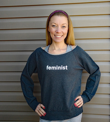 """feminist"" French Terry Sweatshirt (S-XXL)"
