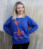 Blue French Terry Holiday Sweatshirt (s-xl)