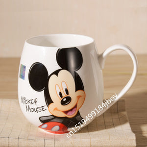 Cartoon Mugs Mickey Minnie Ceramic Cups Milk 420ml Creative Fashion Couples Mug Coffee Water Cups Cute Breakfast Cup Xmas Gifts