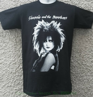 Siouxsie & The Banshees T Shirt Top Sioux Joy Division Bauhaus Gothic Punk Cure White O Neck Cotton T-shirt