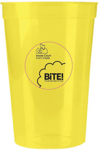 Bite Cardiff branded re-usable cup
