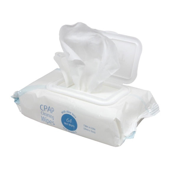 Disposable CPAP Cleaning Wipes Flowpack (64 wipes per flowpack) - CPAPnation