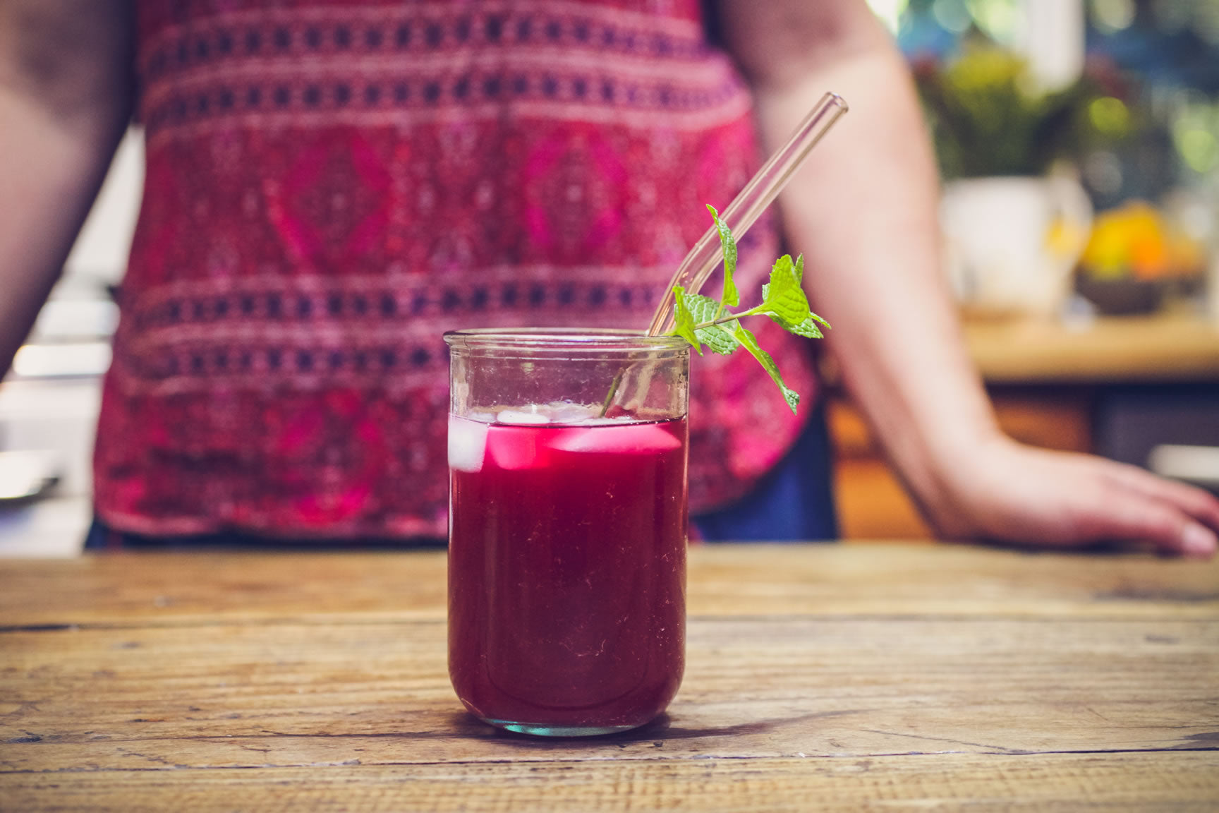 ginger mint beet kvass