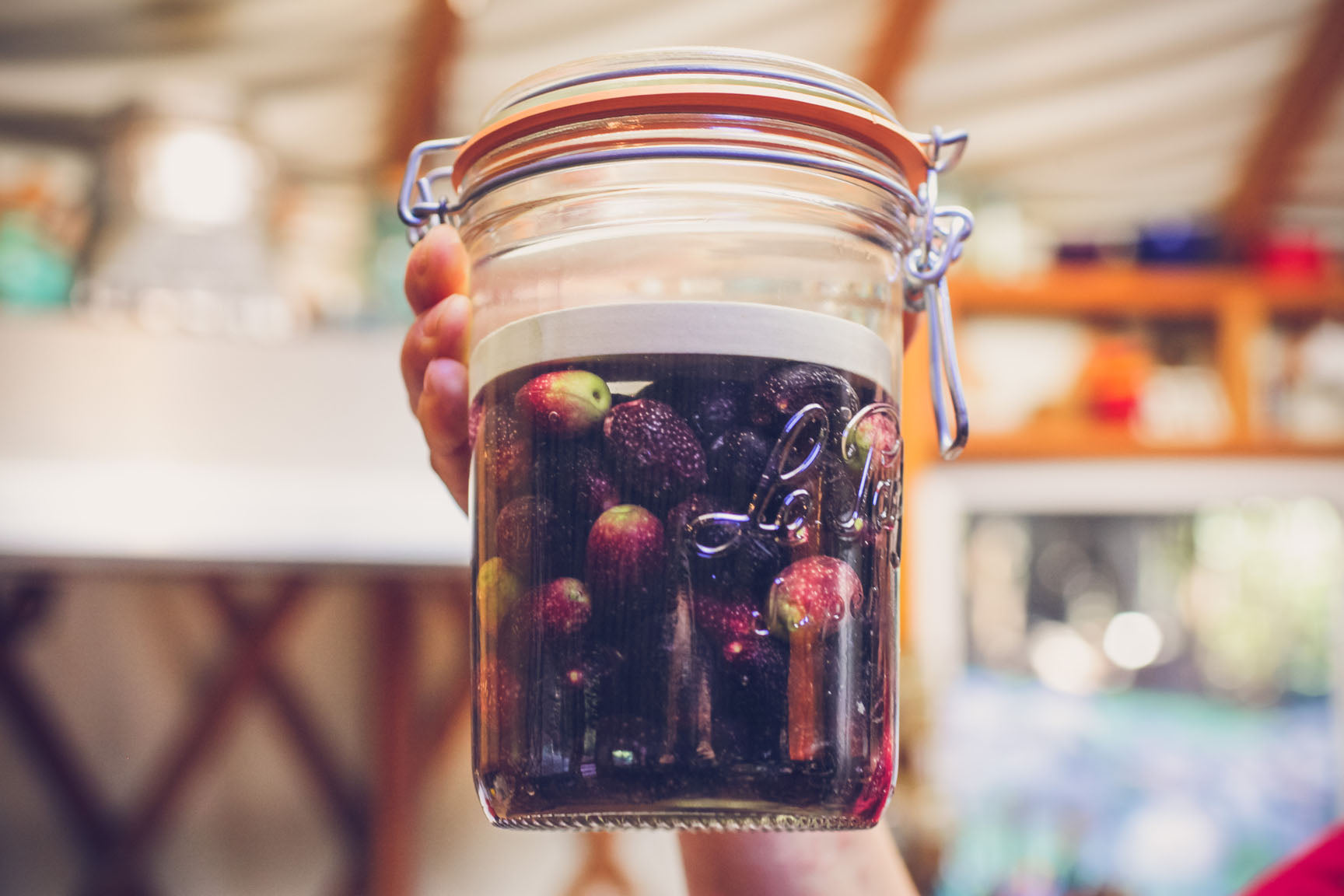 olives in the jar