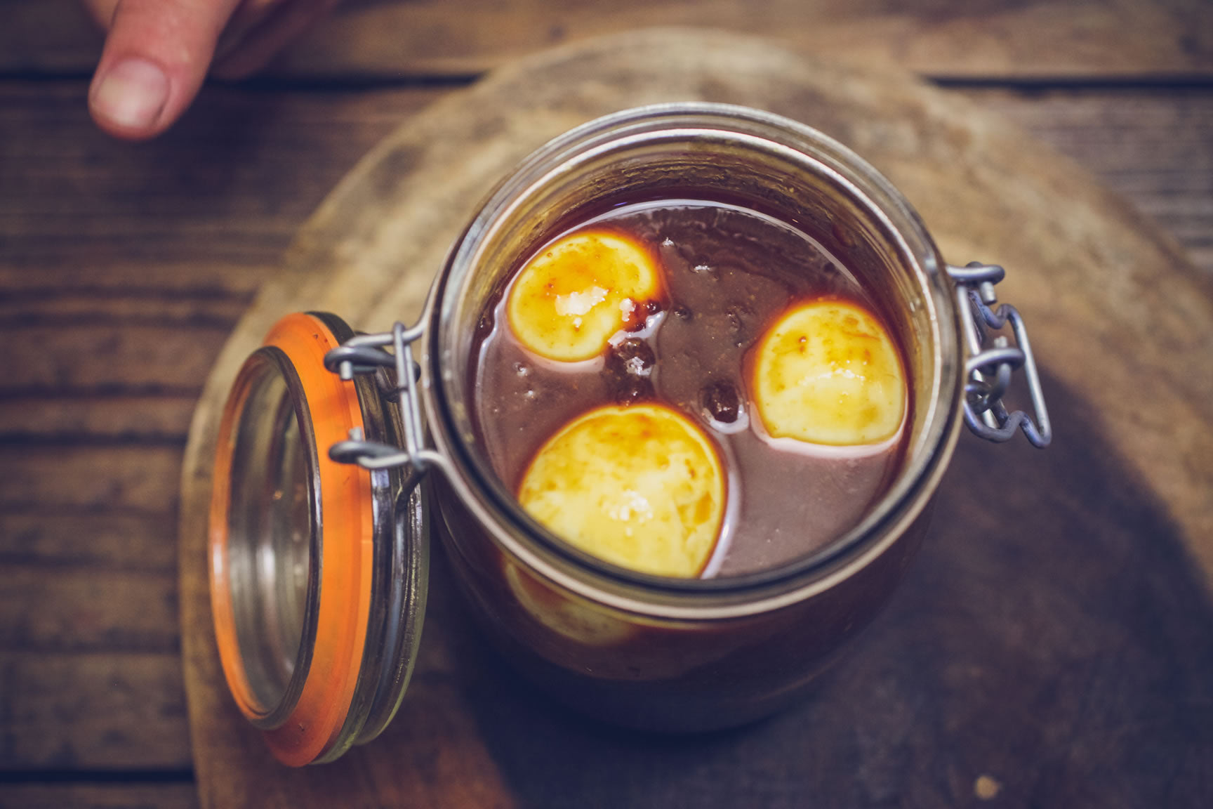miso pickled eggs