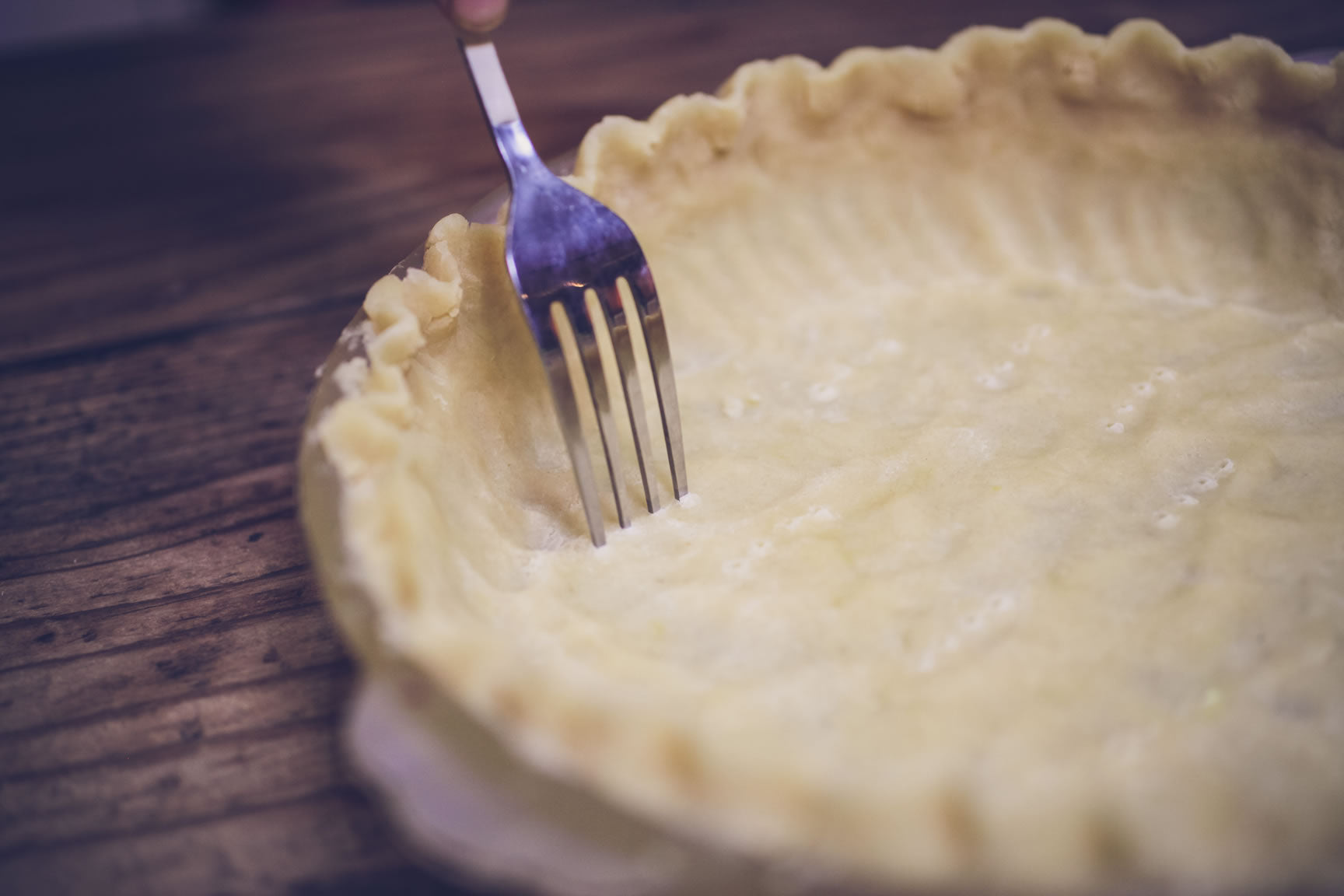 fork pie crust