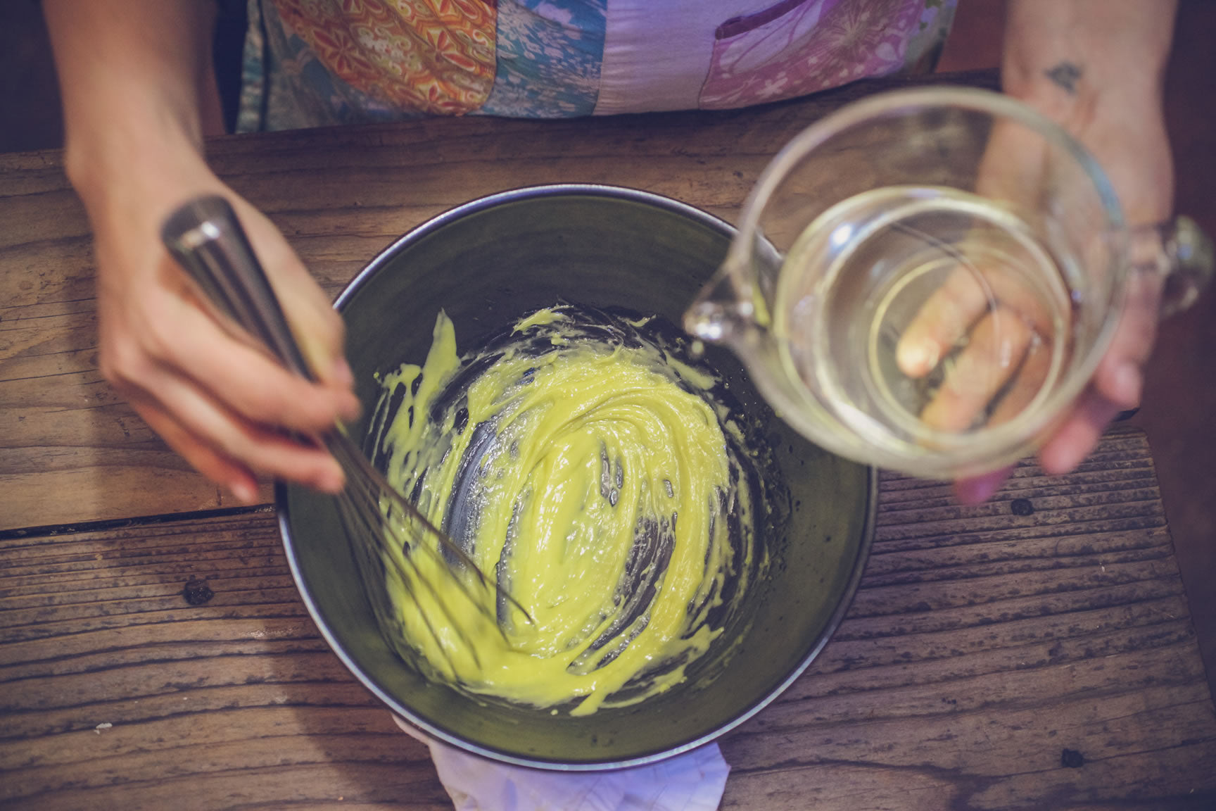 whisking dressing
