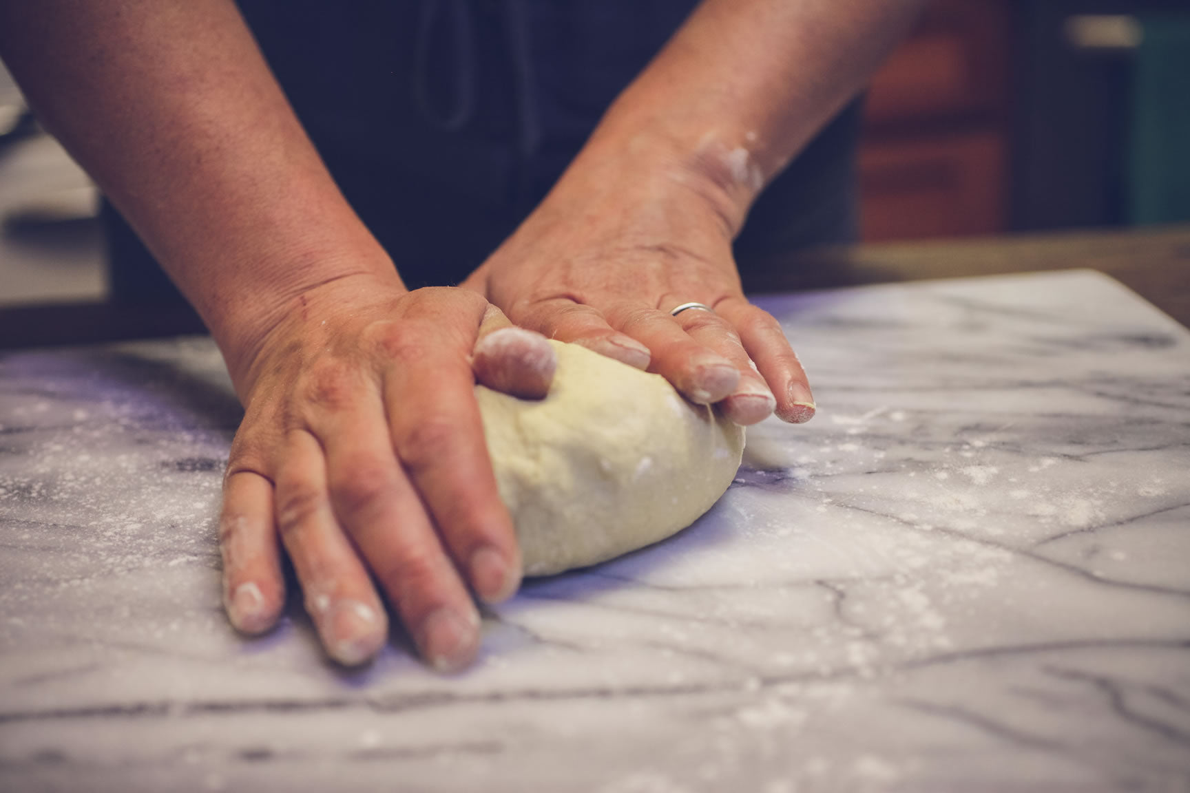 knead rested dough