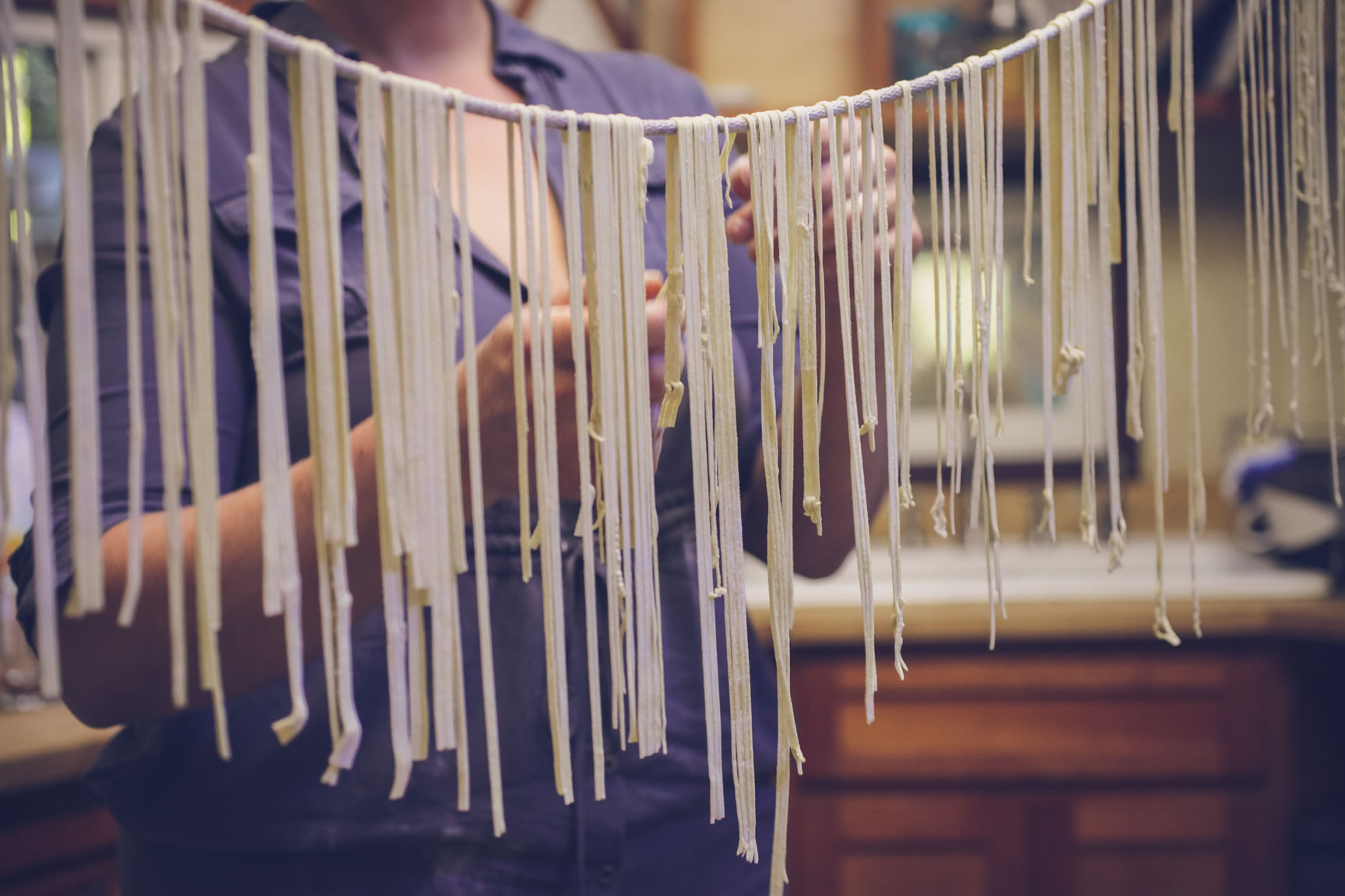 hang noodles to dry