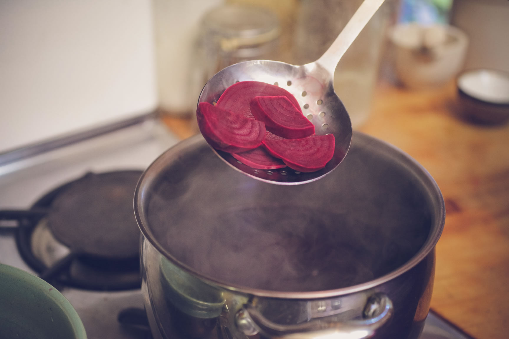 remove beets from liquid