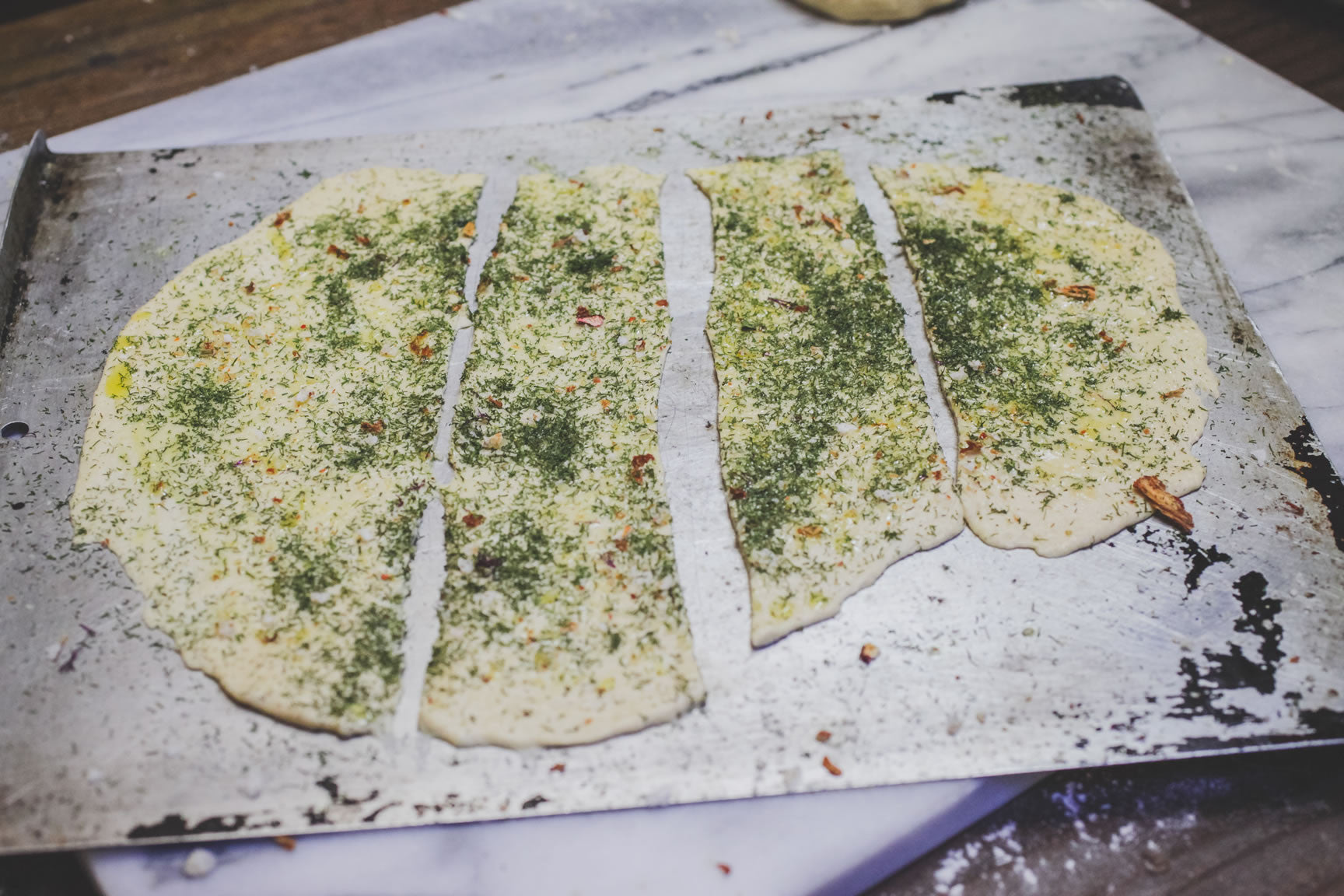slice flatbread