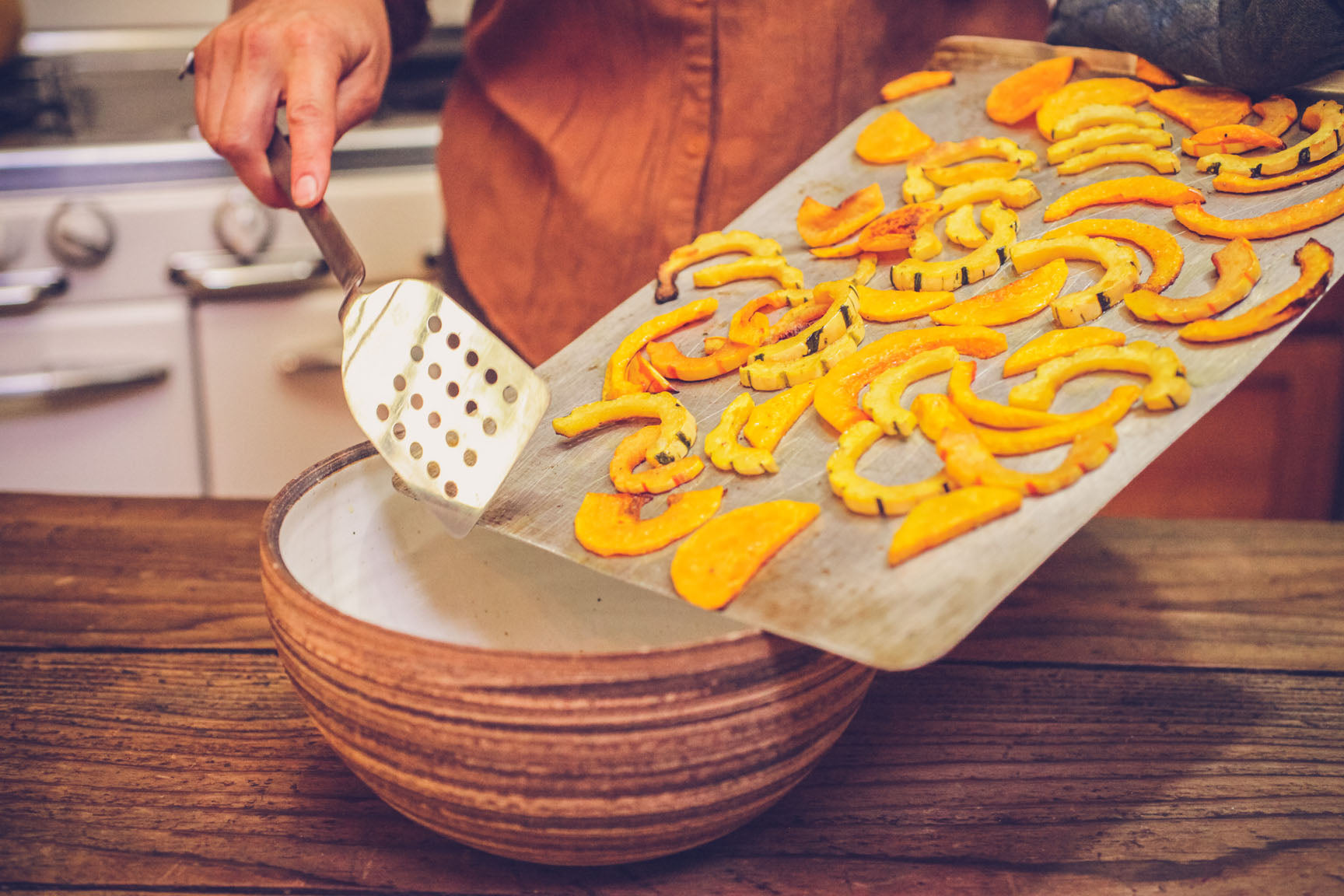 remove squash from oven