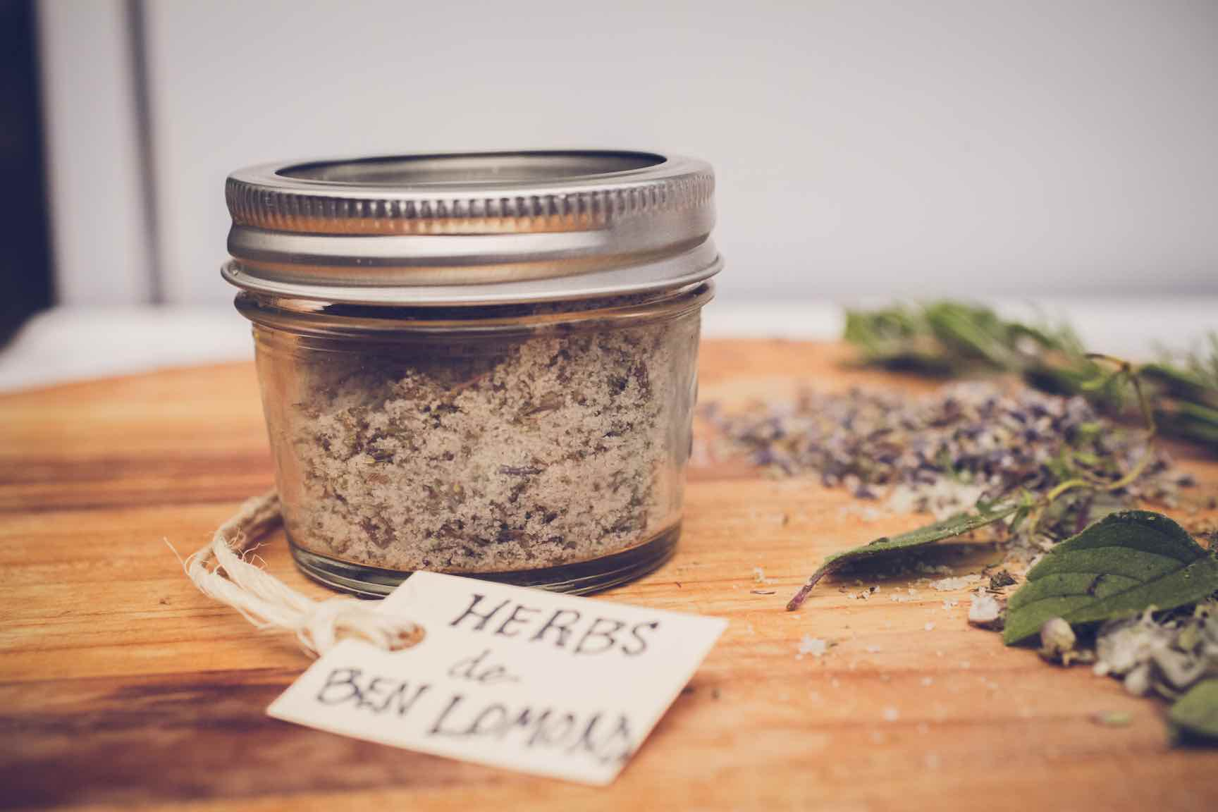 homemade herbed salt blend
