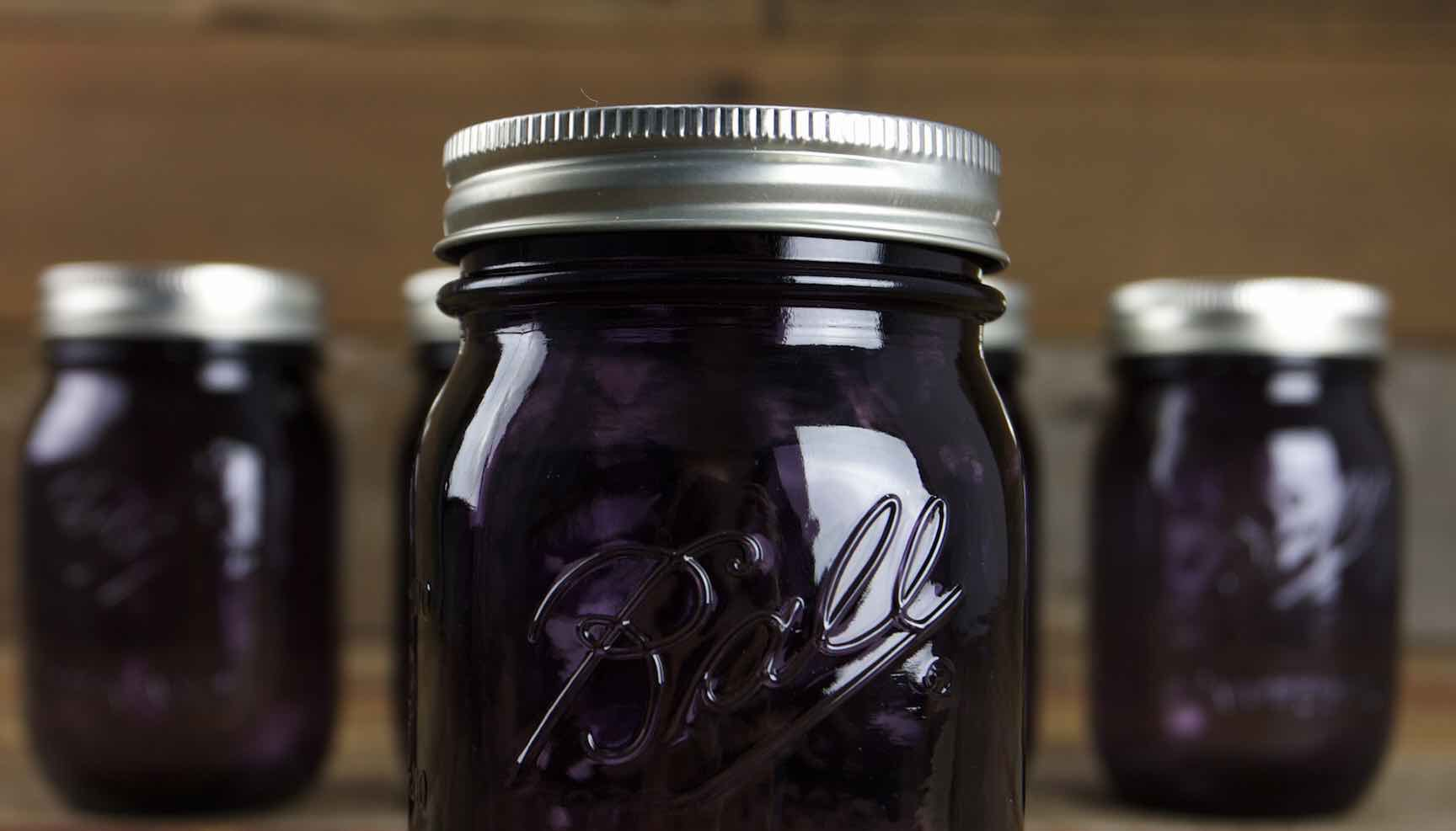purple american heritage collection ball canning jars