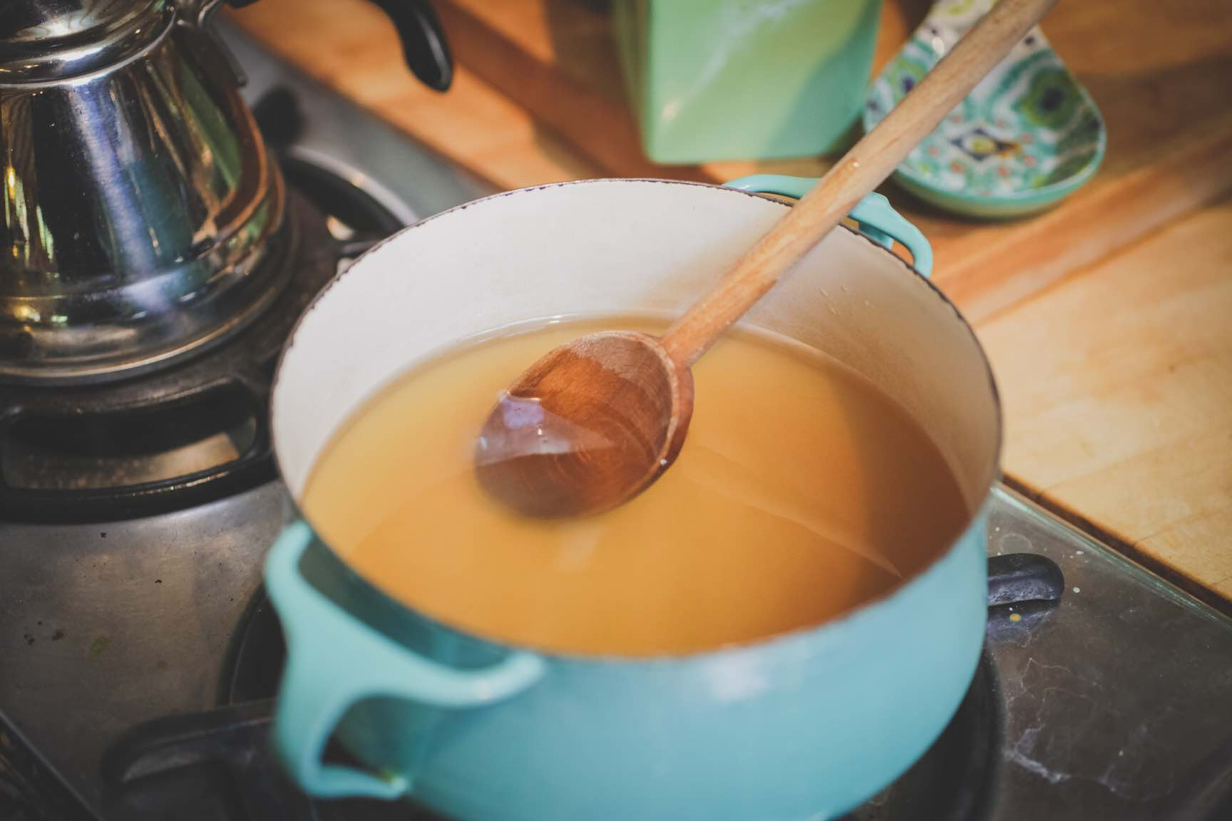 making rich syrup for homemade orange bitters