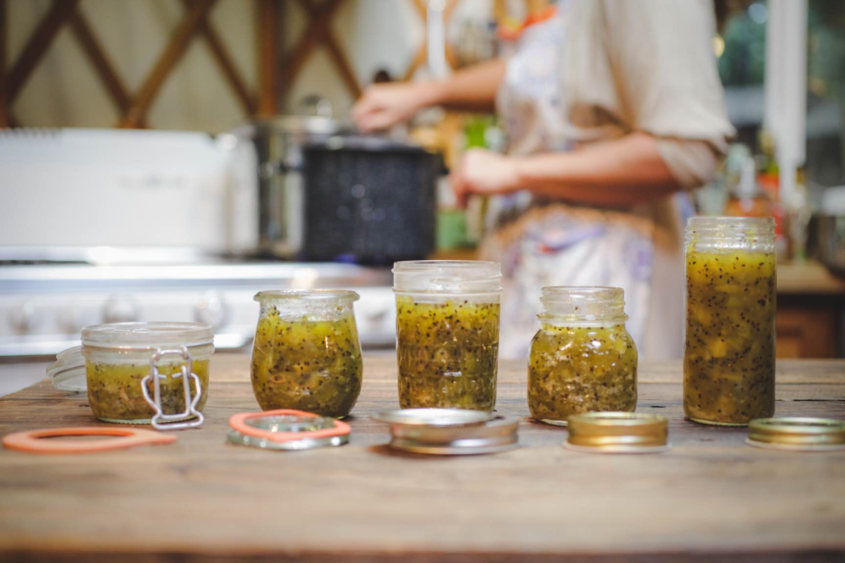 kiwi jam with lemon zest recipe - home canning and preservation