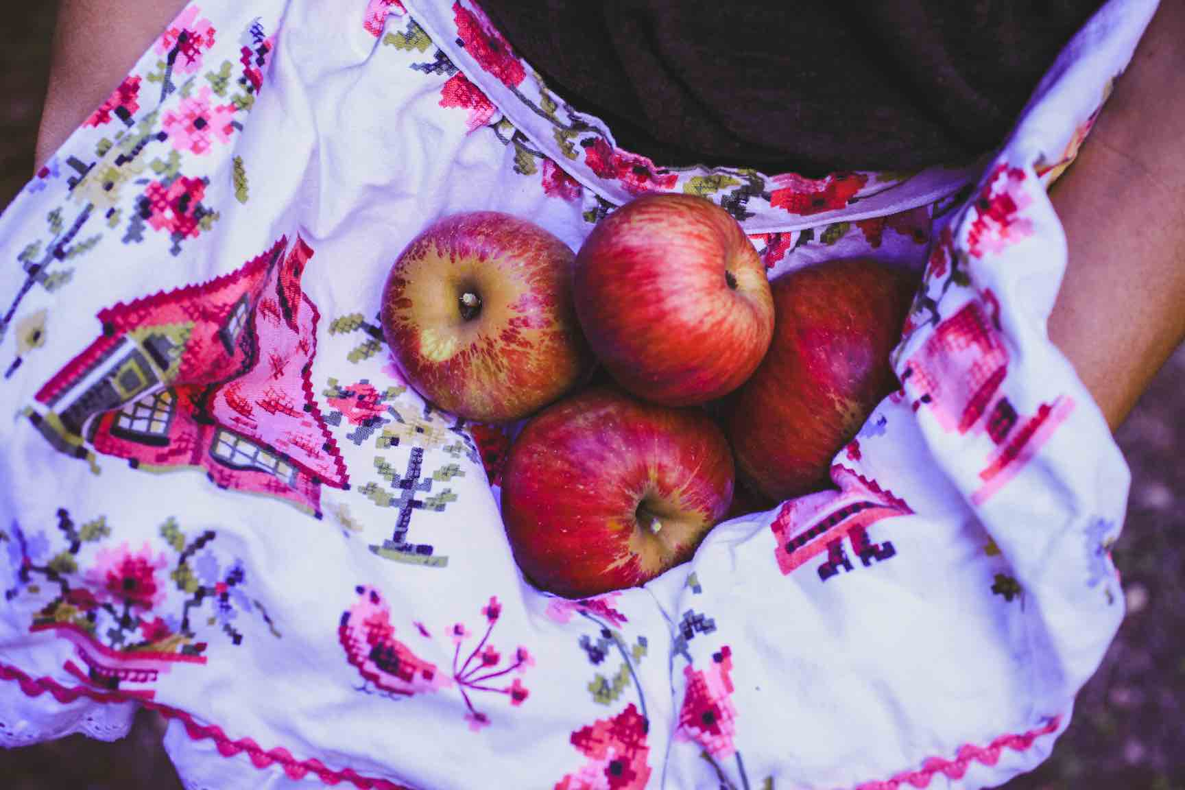 Apples in an apron