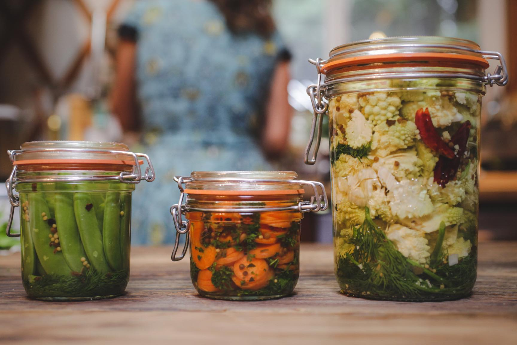 seasonal veggie refrigerator pickle recipe