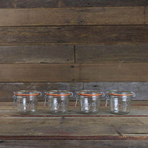 Le Parfait Canning Jars - 17oz Metal Clamp Top Jars - #908559 - Set of 4 - Canning Equipment
