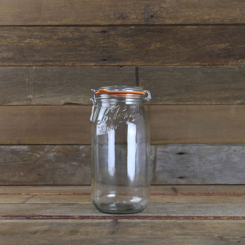 Le Parfait Canning Jars - 2 Liter Metal Clamp Top Jar - #910757 - Home Canning Supplies