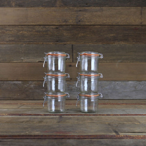 Le Parfait Canning Jars - 12oz Metal Clamp Top Jars - #910773 - Set of 4 - Canning Supplies