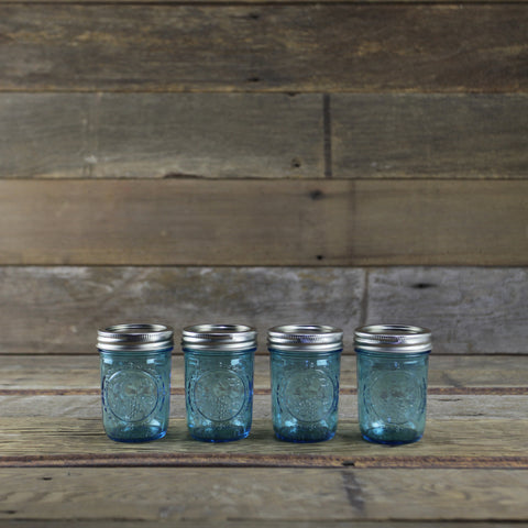 Ball Elite Blue 1/2 Pint Canning Jars - Set of 4 - Home Canning Supplies