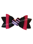 Black  W/ Pink & Striped Heart