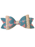 Blue/Pink/White Mickey Bow