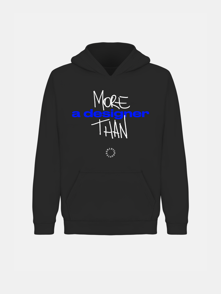 More Than Custom Hoodie Black