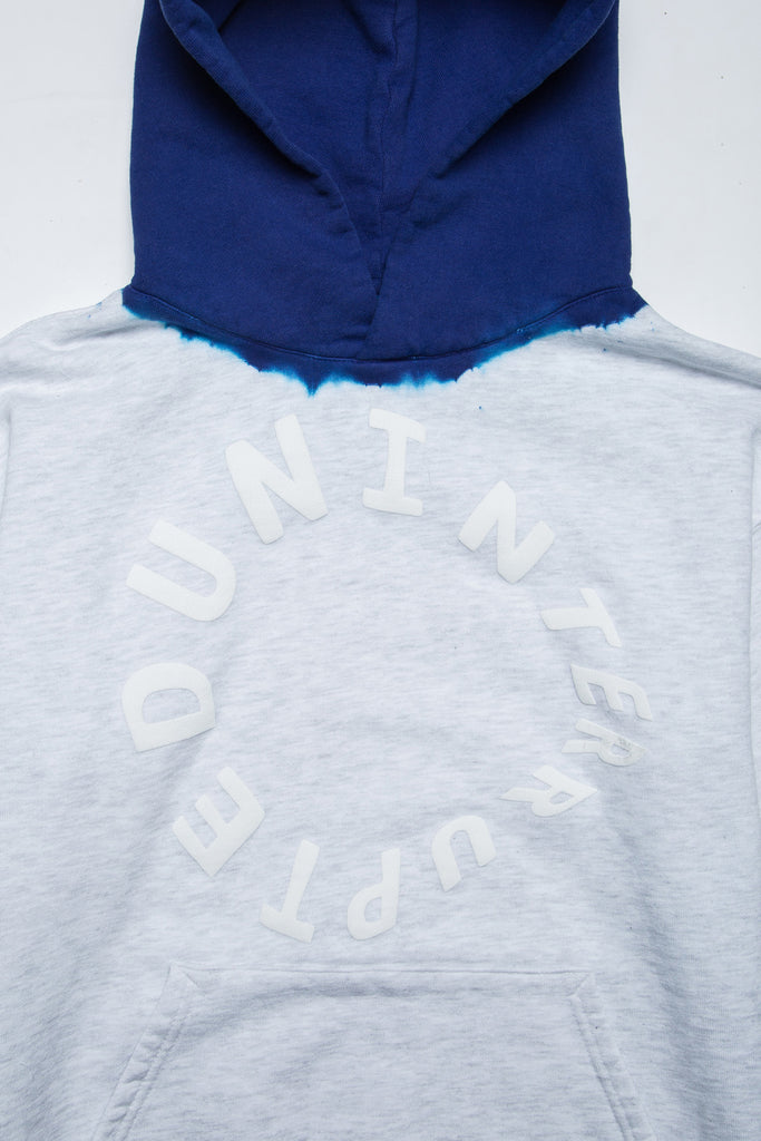 WARPED LOGO SUMMIT DIP DYED HOODIE HEATHER GREY/UN BLUE (4495502803024)