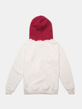 Load image into Gallery viewer, WARPED LOGO SUMMIT DIP DYED HOODIE GHOST WHITE/RED