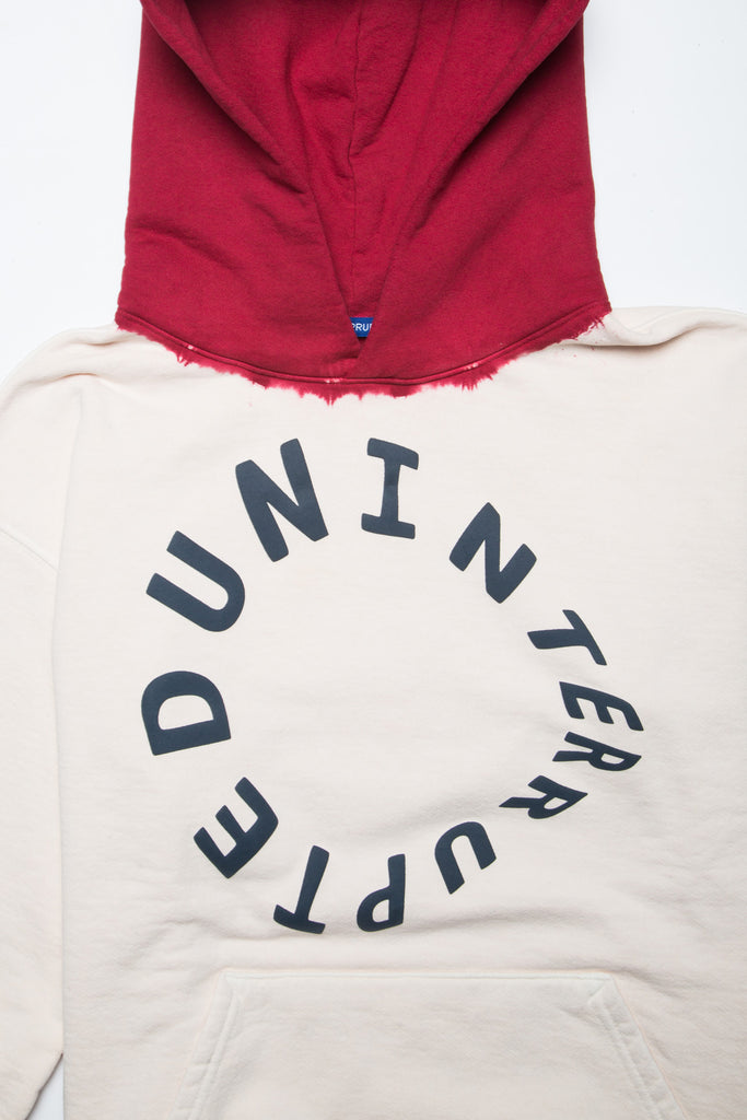 WARPED LOGO SUMMIT DIP DYED HOODIE GHOST WHITE/RED (4495501066320)
