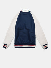 Load image into Gallery viewer, UNINTERRUPTED X GOLDEN BEAR ALL STAR VARSITY JACKET BLUE