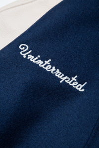 UNINTERRUPTED X GOLDEN BEAR ALL STAR VARSITY JACKET BLUE