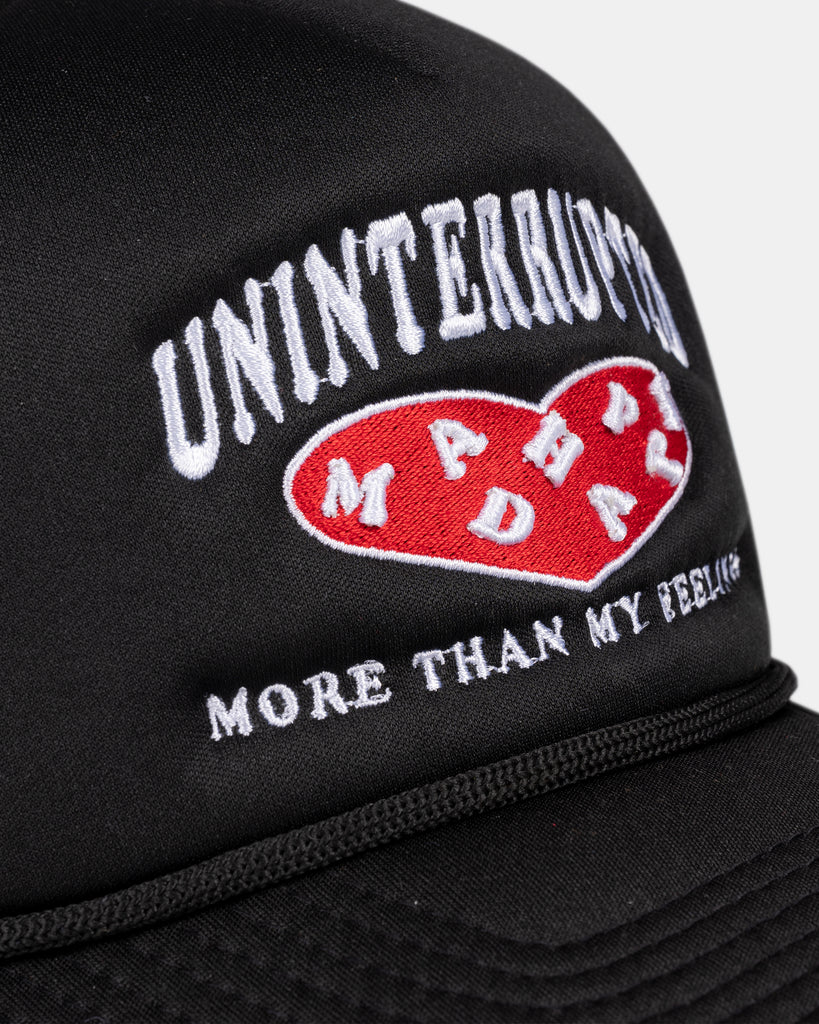 UN X MADHAPPY MORE THAN MY FEELINGS TRUCKER HAT BLACK