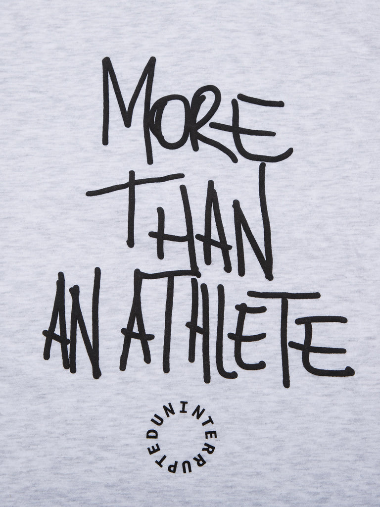 MORE THAN AN ATHLETE TEE HEATHER GREY