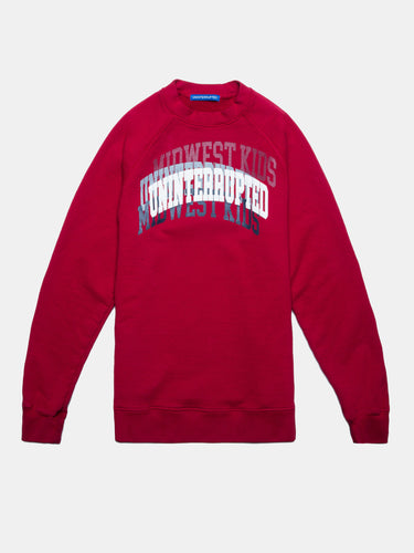 UNINTERRUPTED X MIDWEST KIDS ARCH LOGO CREWNECK RED