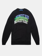 Load image into Gallery viewer, UNINTERRUPTED X MIDWEST KIDS ARCH LOGO CREWNECK BLACK