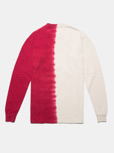 Load image into Gallery viewer, WARPED LOGO LS MULHOLLAND DIP DYED TEE GHOST WHITE/RED