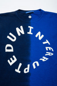 WARPED LOGO LS MULHOLLAND DIP DYED TEE UN BLUE/NAVY (4495519449168)
