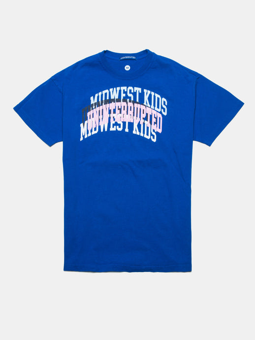 UNINTERRUPTED X MIDWEST KIDS ARCH LOGO VENICE TEE BLUE