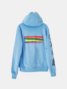 LOVE IS UNINTERRUPTED HOODIE BABY BLUE (4638015881296)