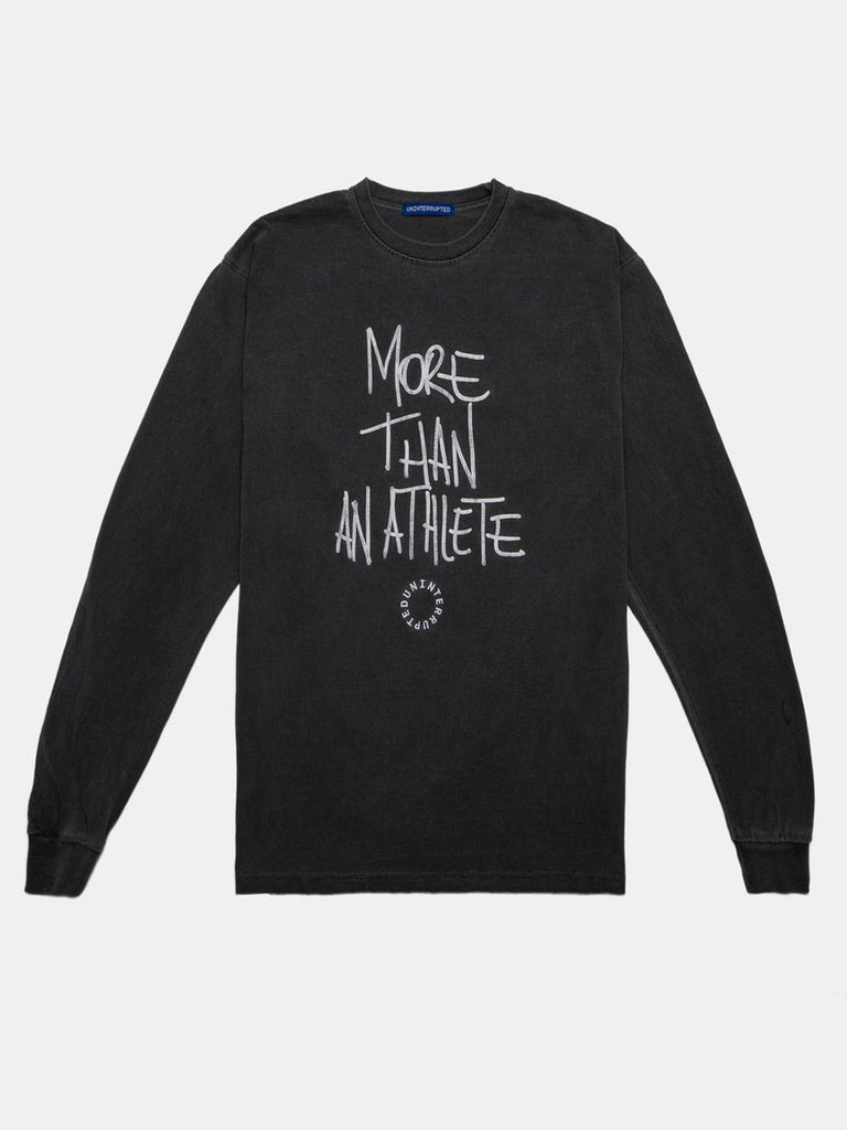 MORE THAN AN ATHLETE LS TEE CHARCOAL