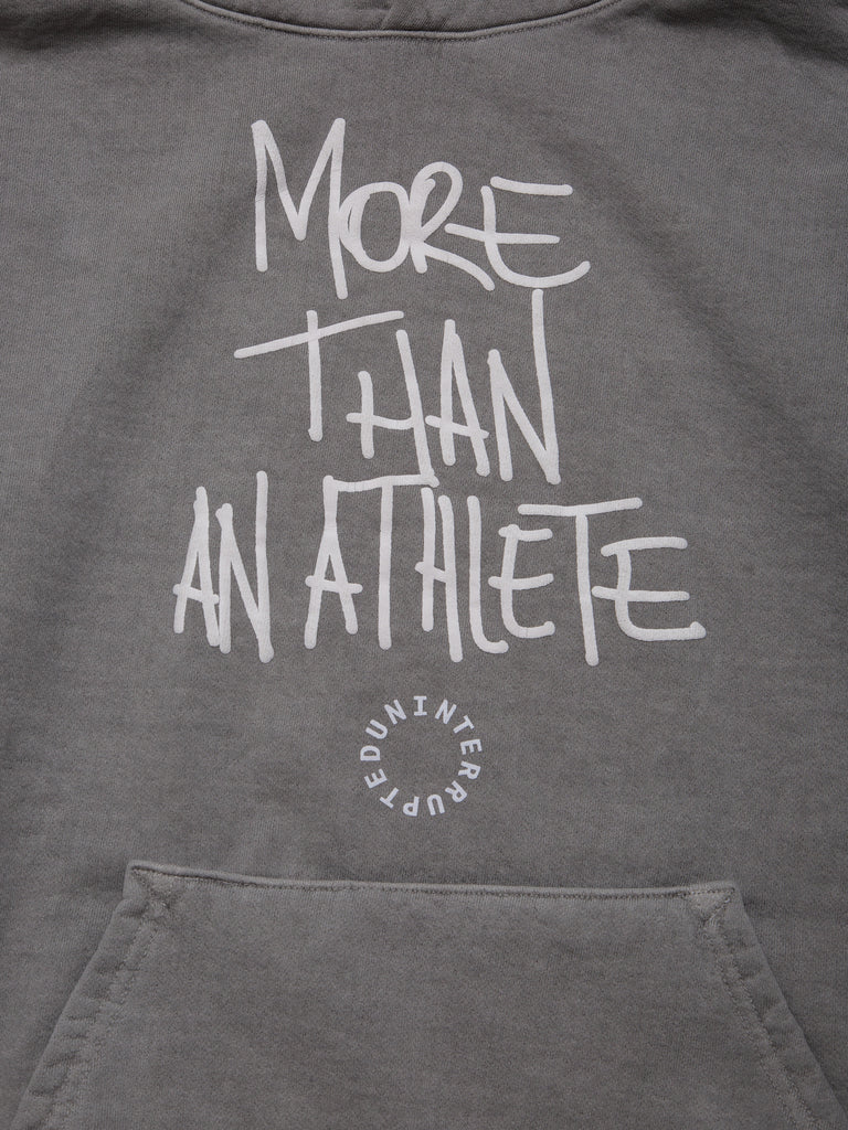 MORE THAN AN ATHLETE HOODIE CEMENT