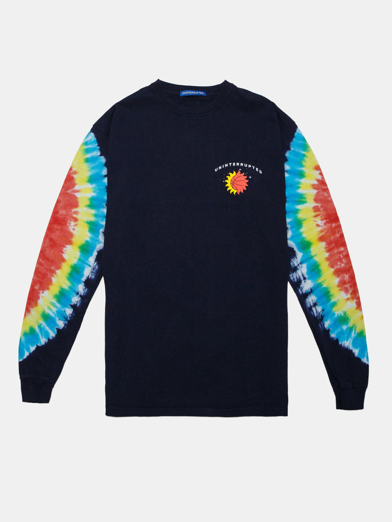 BACK TO HOOPS LS MULHOLLAND TEE NAVY