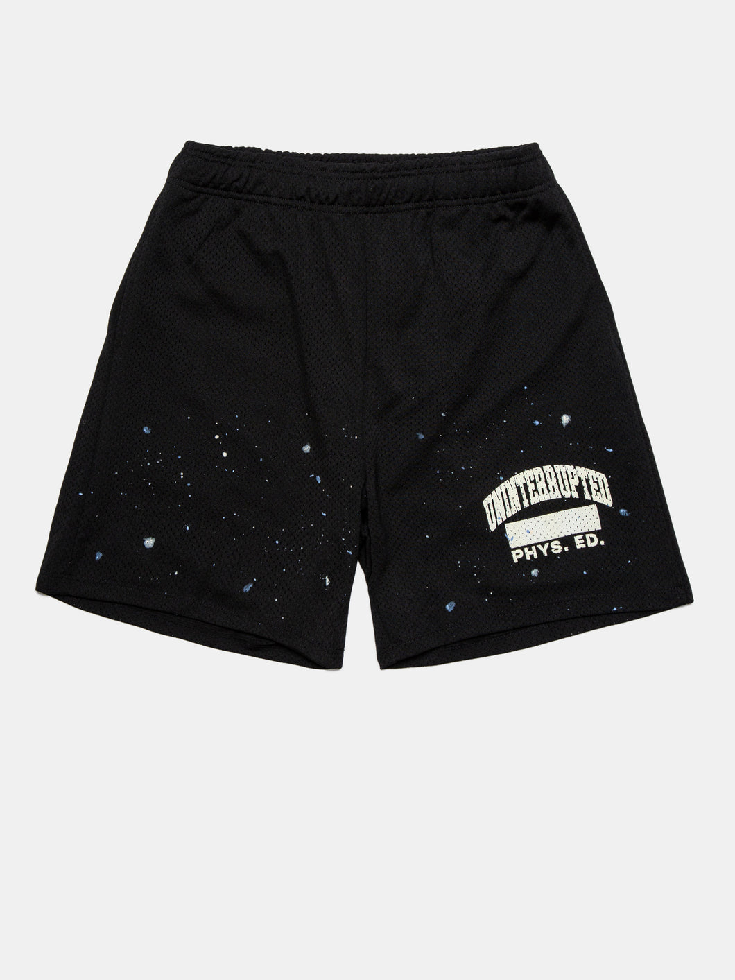 UNINTERRUPTED PAINT SPLATTER AKRON MESH SHORT BLACK