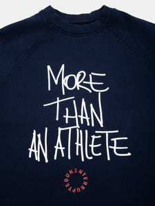 MORE THAN AN ATHLETE Navy Crewneck