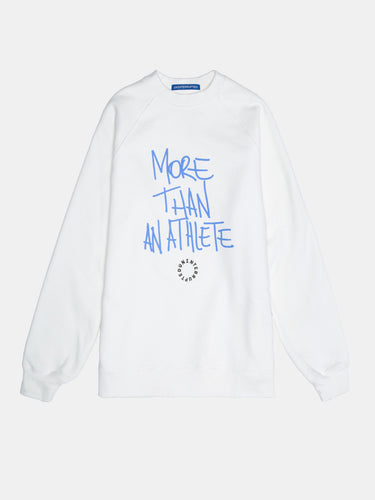 MORE THAN AN ATHLETE White Crewneck