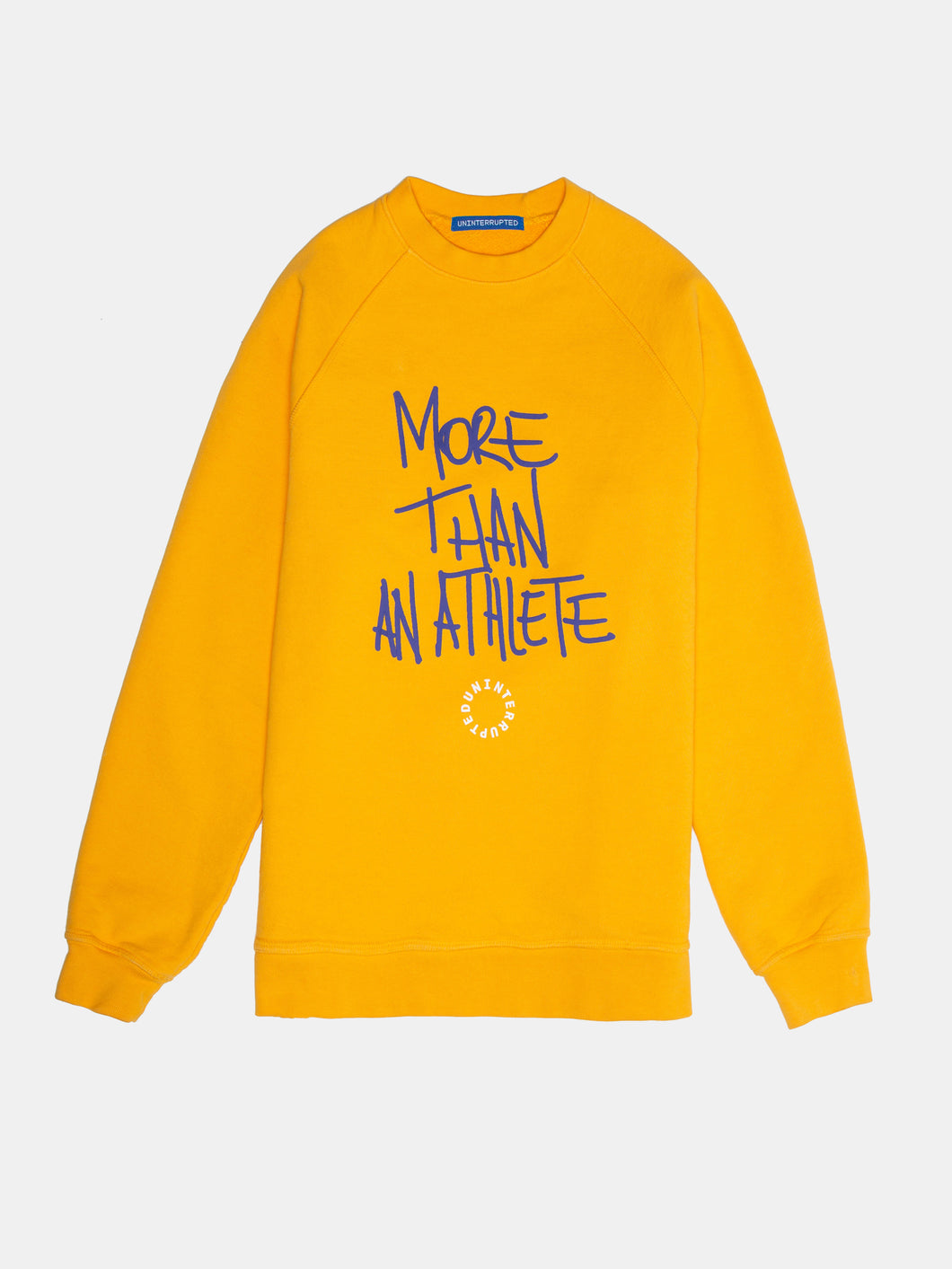 MORE THAN AN ATHLETE Yellow Crewneck