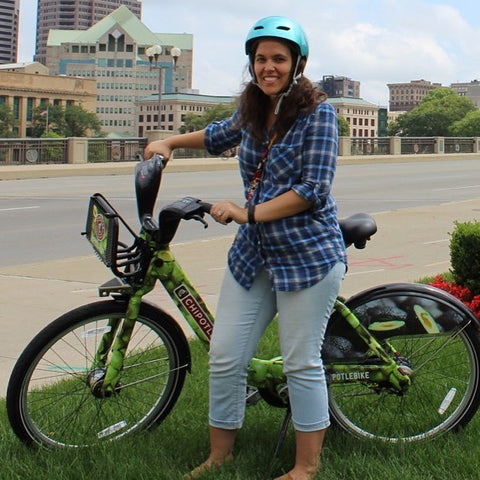 The Avocado Bicycle, chipotle sponsored bicycle wrap with COGO Bicycleshare